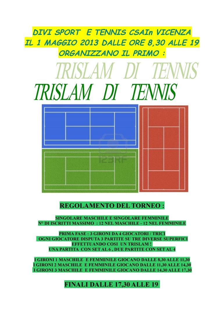 TRISLAM DI TENNIS