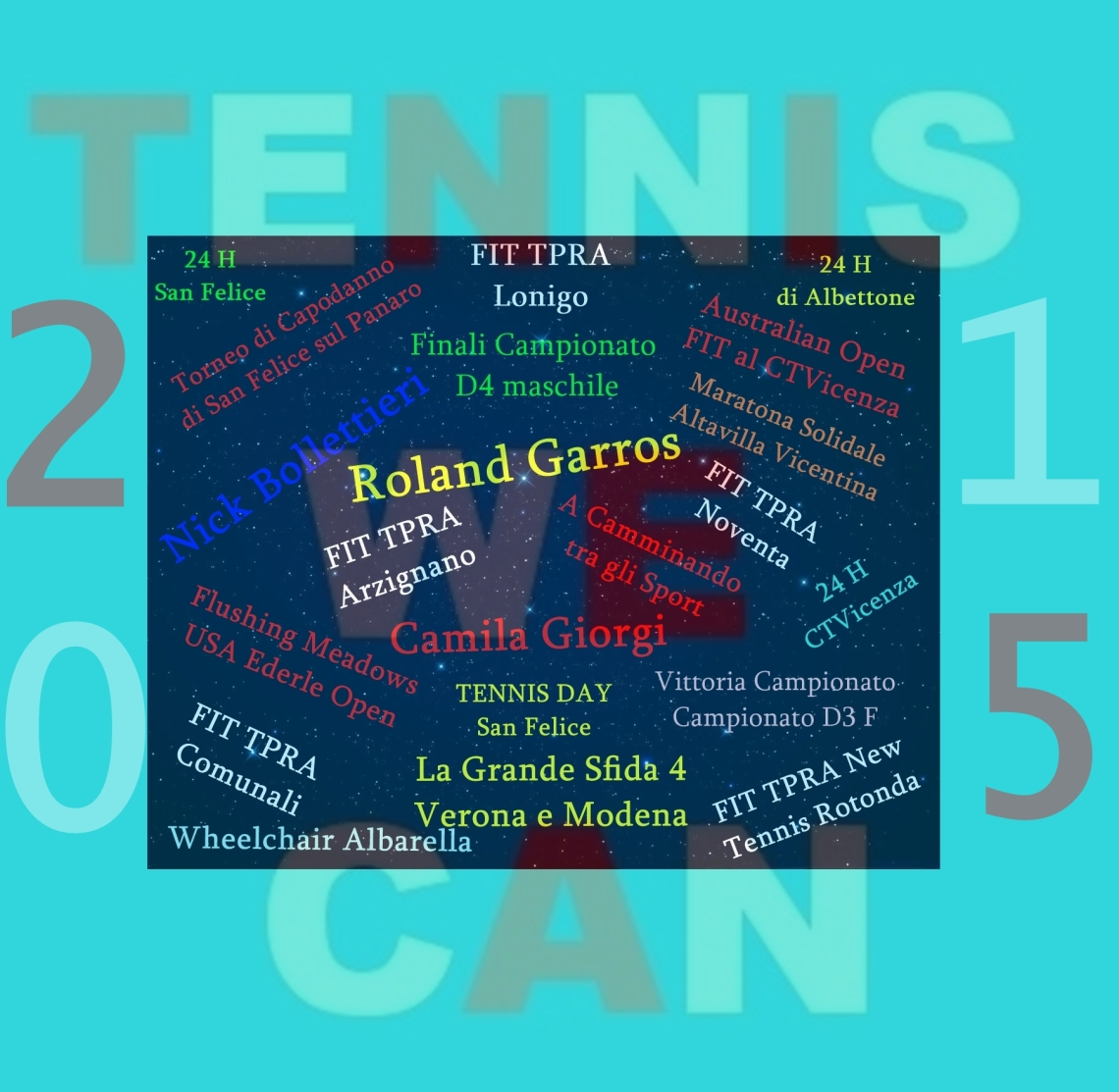 L'ANNO TENNIS WE CAN 2015 2